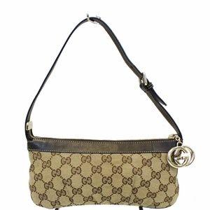 GUCCI Interlocking G Pochette GG Canvas Bag